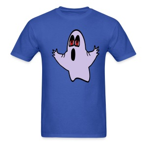 WUBT 'Eli, The Expressive Ghost' Men's Standard Tee, Royal Blue - Men's T-Shirt