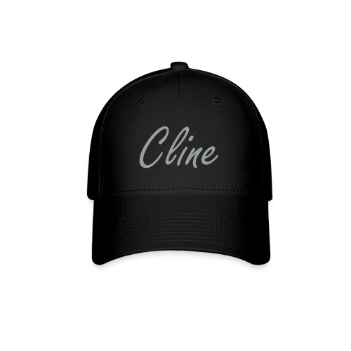 Cline Hat (silver/grey on black) - Baseball Cap