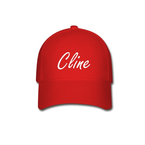 Cline Hat (white on red) - Baseball Cap