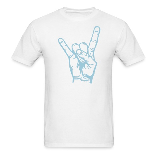 Cline Rock On (white)  Print on Front and Back - Men's T-Shirt
