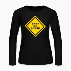 Black Baby On Board Long Sleeve Shirts