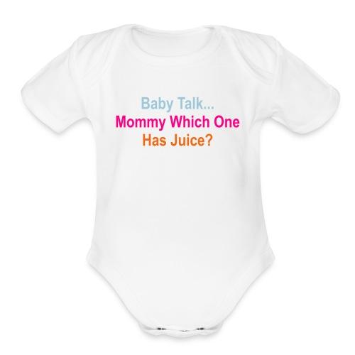 Juice Fountain  - Organic Short Sleeve Baby Bodysuit