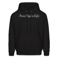 Hoodies ~ Men's Hoodie ~ Men's Hooded Sweatshirt/Grey Script
