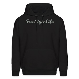 Men's Hooded Sweatshirt/Grey Script - Men's Hoodie