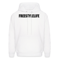 Hoodies ~ Men's Hoodie ~ Men's Hooded Sweatshirt/Black Block Lettering