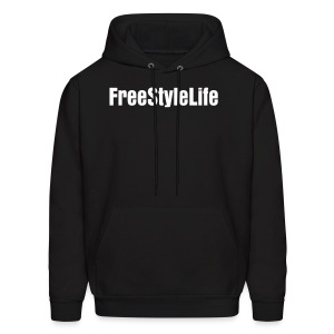 Men's Hooded Sweatshirt/White Block Lettering - Men's Hoodie