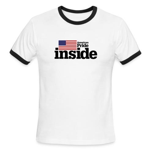 American Pride Inside Ringer Tee - Men's Ringer T-Shirt