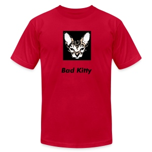Men's Red Heavyweight Bad Kitty T-Shirt  - Men's T-Shirt by American Apparel