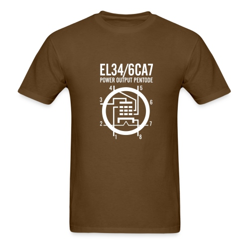 EL34 White Schematic T-Shirt - Men's T-Shirt