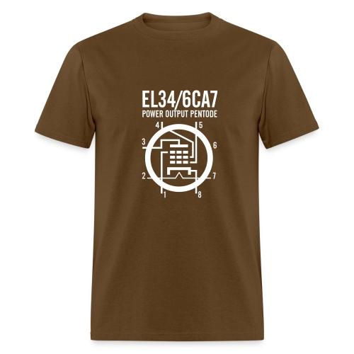 EL34 White Schematic T-Shirt - Men's T-Shirt