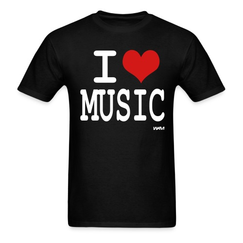 Luv Music black  Print on Front and Back - Men's T-Shirt