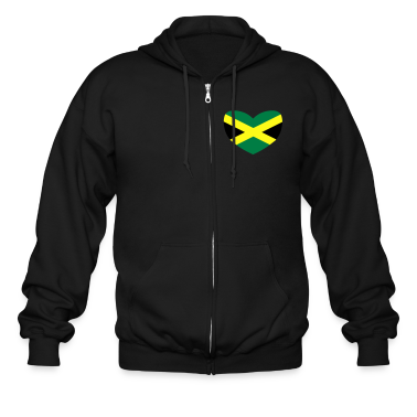 Black Jamaican Flag Zip Hoodies/Jackets