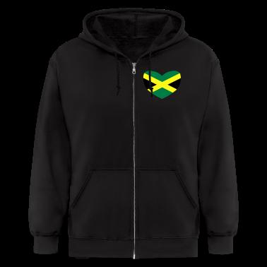 Black Jamaican Flag Zip Hoodies/Jackets