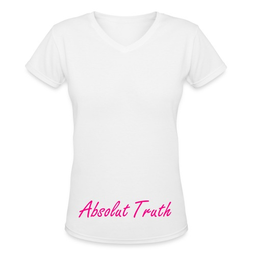 Women's White A/T V-Neck - Women's V-Neck T-Shirt