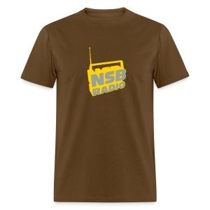 men's logo shirt (brown) - Men's T-Shirt
