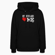 Black my husband loves me by wam Hoodies