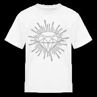Kids' Shirts ~ Kids' T-Shirt ~ New Kids Designer T-shirts Silver Sparkle Print