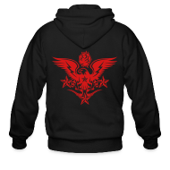 Zip Hoodies & Jackets ~ Men's Zip Hoodie ~ New Mens Designer Tattoo Hoodies For Fall