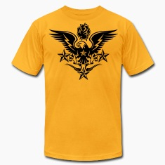 Gold Eagle,Rose,and Nautical Star Lightning Tattoo T-Shirts