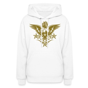 Gold Print Womens Designer Tattoo Hoodies For Fall - Women's Hoodie