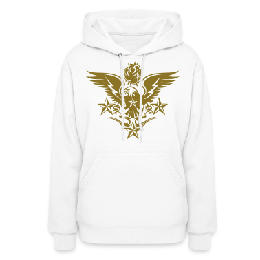 White Eagle,Rose,and Nautical Star Lightning Tattoo Hoodies