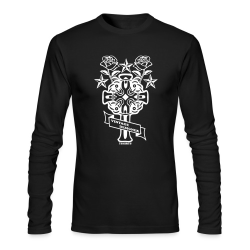 New Cross and Roses Vintage Designer Tee - Men's Long Sleeve T-Shirt by Next Level