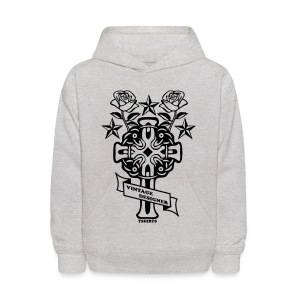 New Cross and Roses Vintage Designer Hoodie - Kids' Hoodie