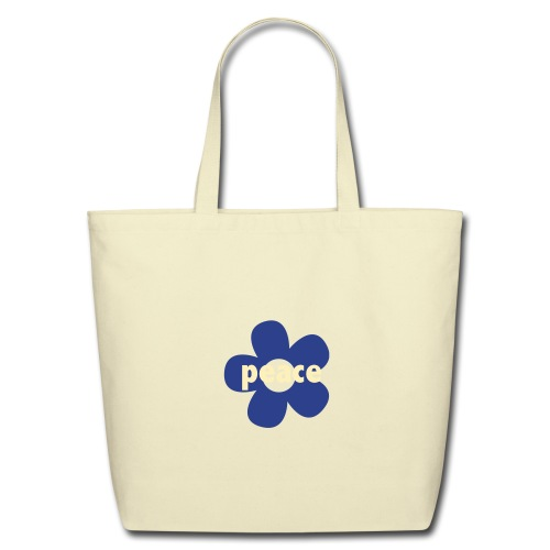 * peace flower * - Eco-Friendly Cotton Tote