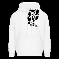 Hoodies ~ Men's Hoodie ~ Paint splatter Nautical Star Design