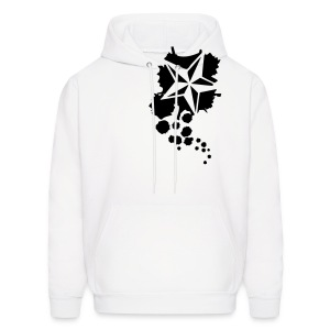 Paint splatter Nautical Star Design - Men's Hoodie
