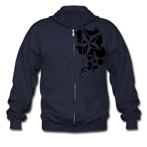 Paint splatter Nautical Star Design - Men's Zip Hoodie
