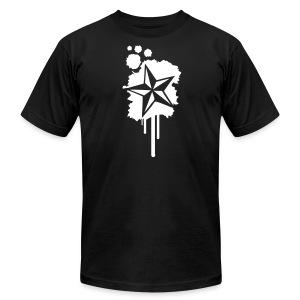 Paint splatter Nautical Star Design - Men's Fine Jersey T-Shirt