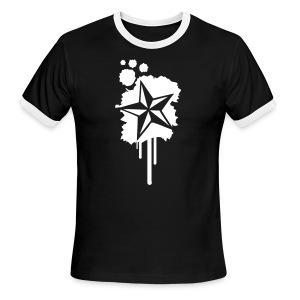 Paint splatter Nautical Star Design - Men's Ringer T-Shirt