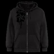 Zip Hoodies & Jackets ~ Men's Zip Hoodie ~ Paint splatter Nautical Star Design