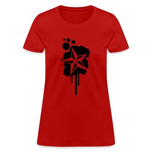 Nautical Star Paint Splatter - Women's T-Shirt