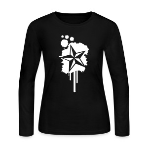 Nautical Star Paint Splatter - Women's Long Sleeve Jersey T-Shirt