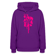 Hoodies ~ Women's Hoodie ~ Nautical Star Paint Splatter