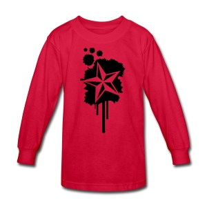 Nautical Star Paint Splatter - Kids' Long Sleeve T-Shirt