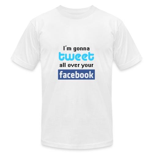 Facebook & Tweet - Men's Fine Jersey T-Shirt