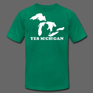 Yes Michigan Men's American Apparel Tee - Men's T-Shirt by American Apparel
