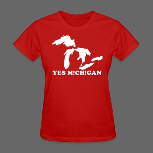 Yes Michigan Women's Standard Weight Tee - Women's T-Shirt