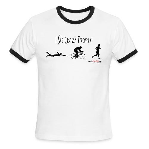 I See Crazy People - Men - Men's Ringer T-Shirt