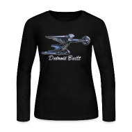 Long Sleeve Shirts ~ Women's Long Sleeve Jersey T-Shirt ~ Detroit Built Packard Hood Ornament Women's Long Sleeve Jersey Tee