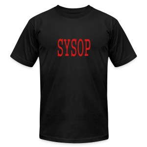 MEN`S AA TEE - SYSOP by MYBLOGSHIRT.COM - Men's T-Shirt by American Apparel