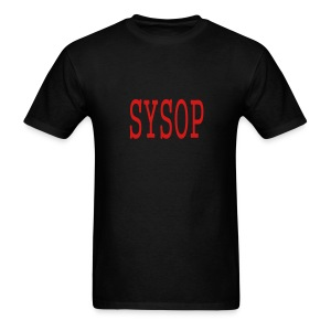 MEN`S STANDARD WEIGHT T-SHIRT - SYSOP by MYBLOGSHIRT.COM - Men's T-Shirt