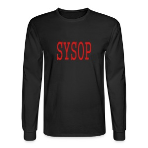 MEN`S LONG SLEEVE T-SHIRT - SYSOP by MYBLOGSHIRT.COM - Men's Long Sleeve T-Shirt