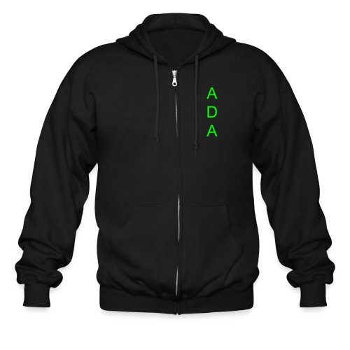 ADA(front) A Doubled Army(back) - Men's Zip Hoodie