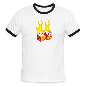 Fire & Dice Ringer - Men's Ringer T-Shirt