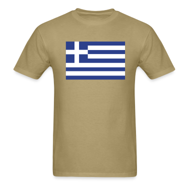 Khaki Greek Flag T-Shirts
