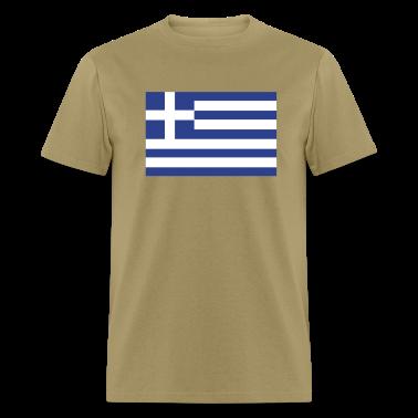 Khaki Greek Flag T-Shirts
